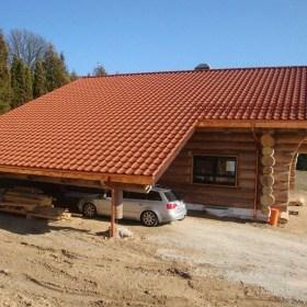 Naturstamm-Blockhaus in Bad Kötzingen - Carport