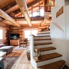 Naturstamm-Blockhaus in Bad Kötzingen Innenansicht