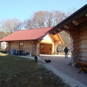 Naturstammhaus Neubau Mahlstetten