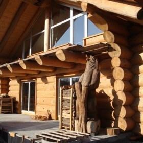 Naturstammhaus Neubauobjekt in Owingen