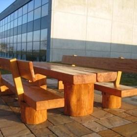 Naturstammmöbel-Sitzgruppe