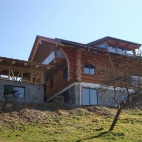 Naturstamm Blockhaus Streichen