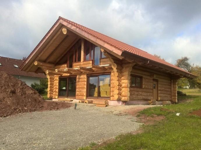 Blockhaus Baustelle Herzogenweiler