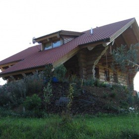 Naturstamm Blockhaus Carport Worndorf