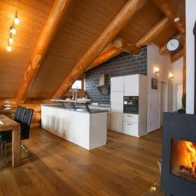 Innenausbau im Blockhaus - Küche