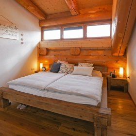 Innenausbau im Blockhaus - Schlafzimmer