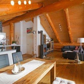 Innenausbau im Blockhaus - Wohnbereich