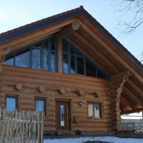 Naturstammhaus Blockhaus in Eitorf Rückseite