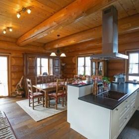 Innenausbau im Naturstammhauss - Offene Küche
