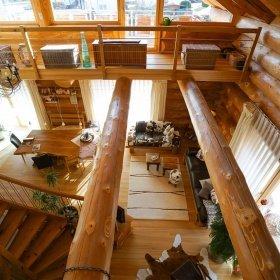 Innenausbau im Naturstammhaus bzw. Blockhaus